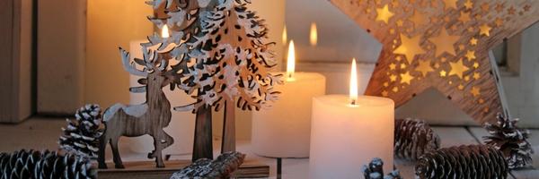 Weihnachtsträume im Kerzenlicht